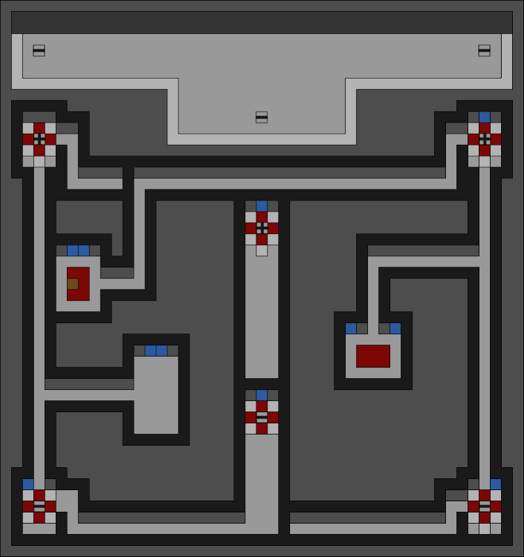 Map of The Secret Pass Second Floor