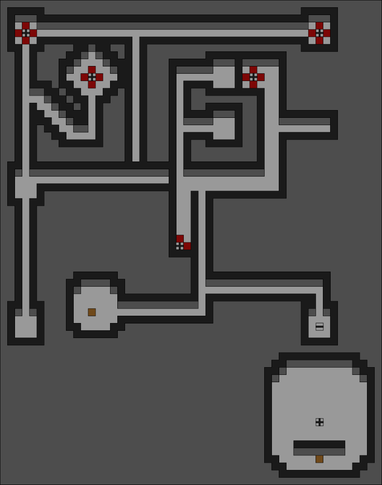 Map of The Secret Pass Basement